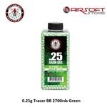 G&G 0.25g Tracer BB 2700rds Green