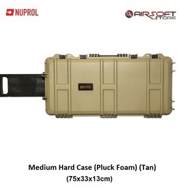 NUPROL Medium Hard Case (Pluck Foam) (Tan)