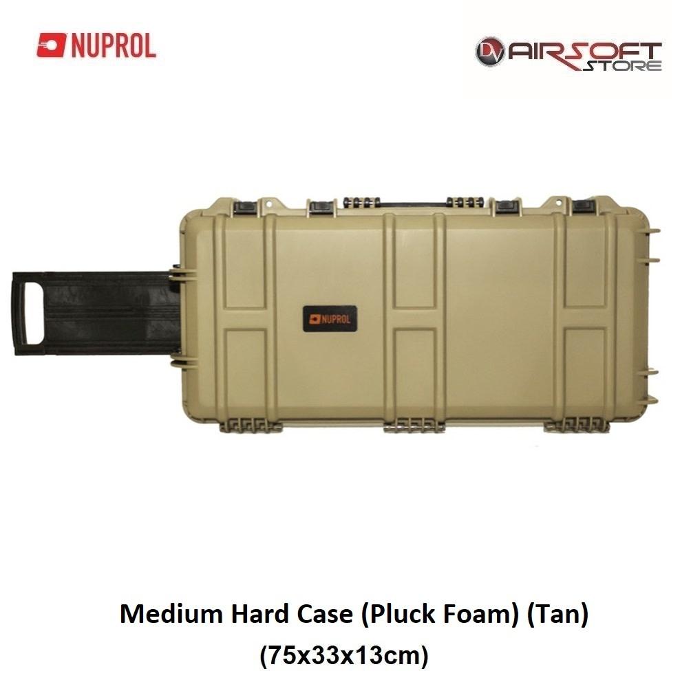 NUPROL Medium Hard Case (Pluck Foam) (Tan)