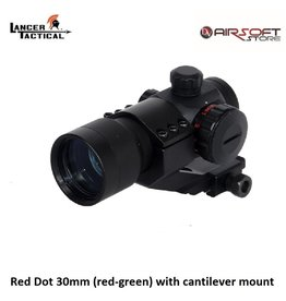 Lancer Tactical Red Dot 30mm (red-green) with cantilever mount