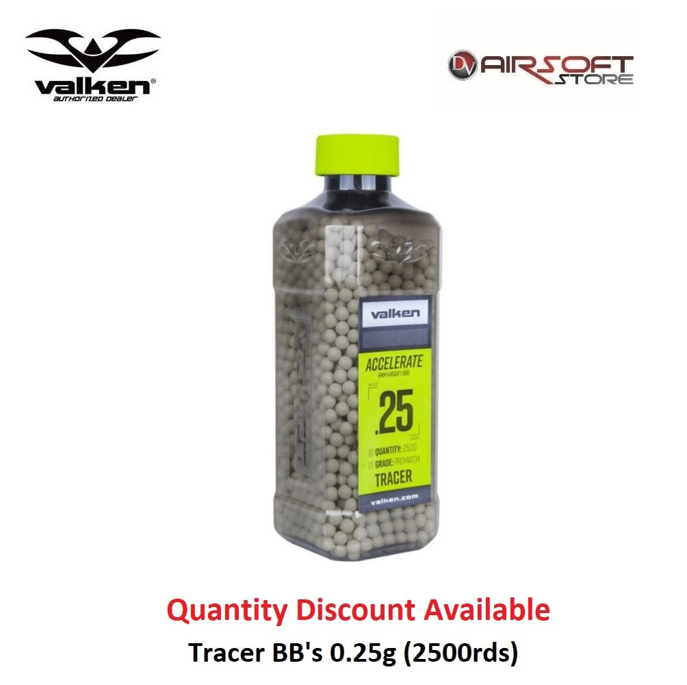 VALKEN Tracer BB's 0.25g (2500rds)