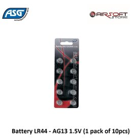 ASG Battery LR44 - AG13 1.5V (1 pack of 10pcs)