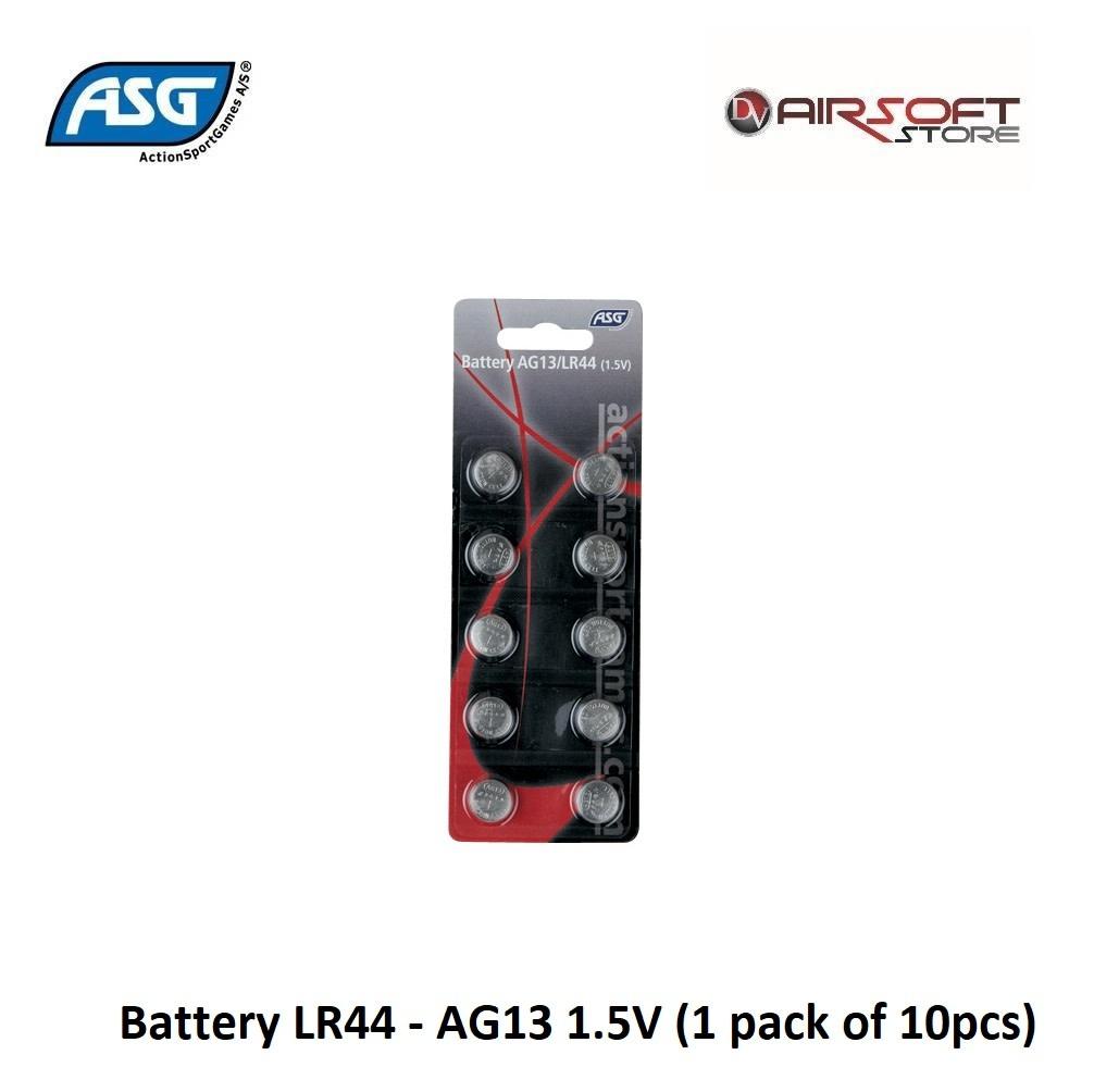 ASG Battery LR44 - AG13 1.5V (1 pack of 10pcs)