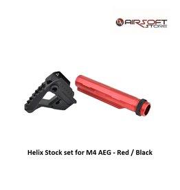 Castellan Helix Stock set for M4 AEG - Red / Black