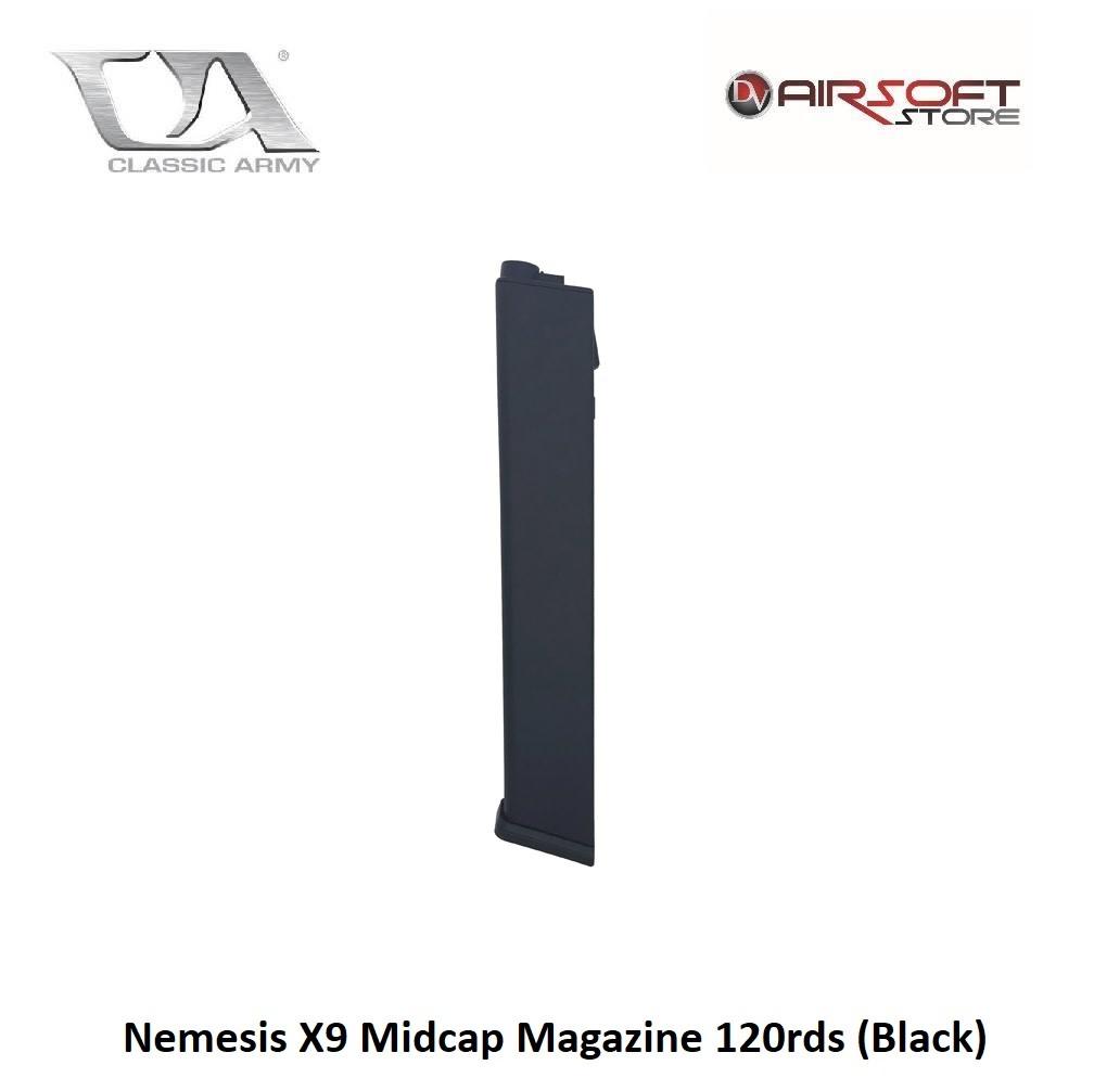 Classic Army Nemesis X9  and ARP 9 Midcap Magazine 120rds (Black)