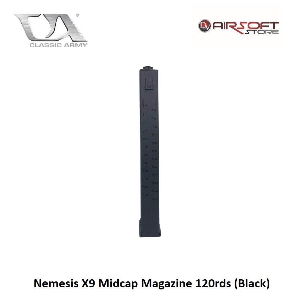 Classic Army Nemesis X9 Midcap Magazine 120rds (Black)