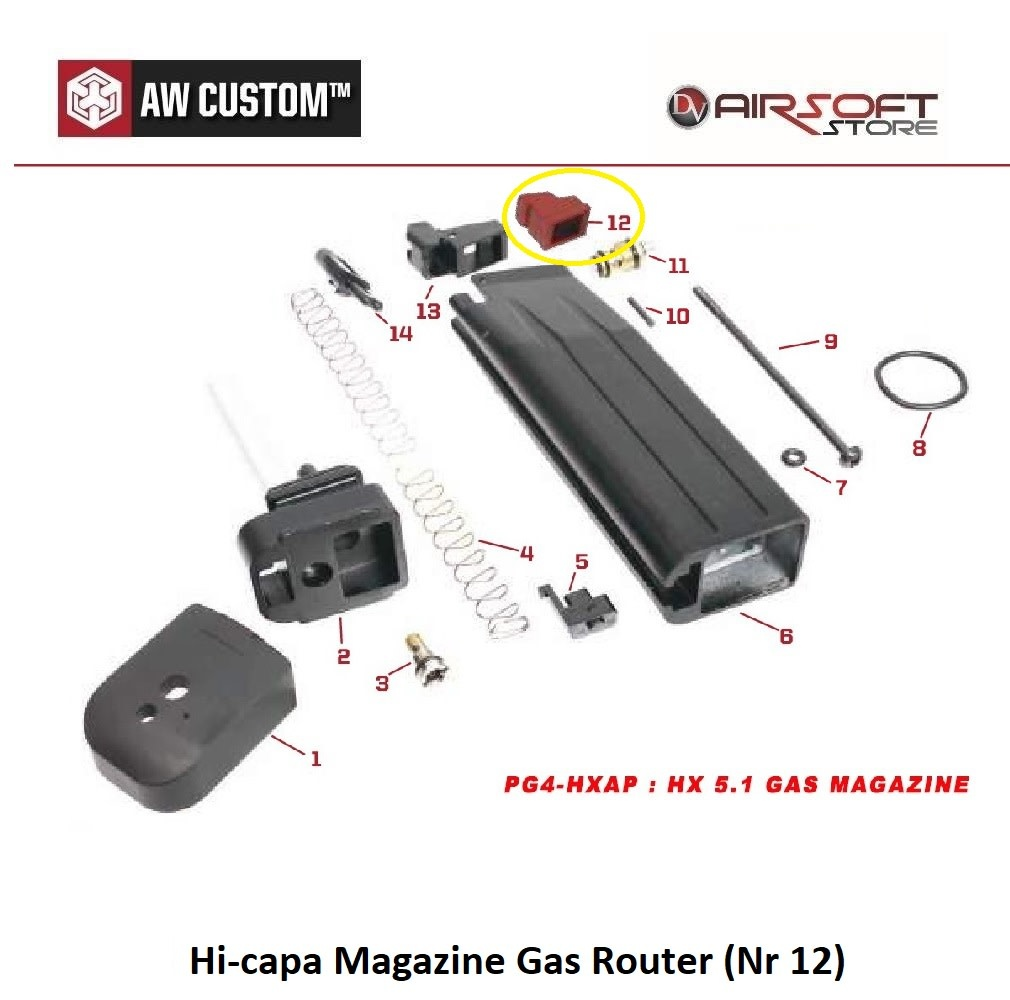 Armorer Works Hi-capa Magazine Gas Router (Nr 12)