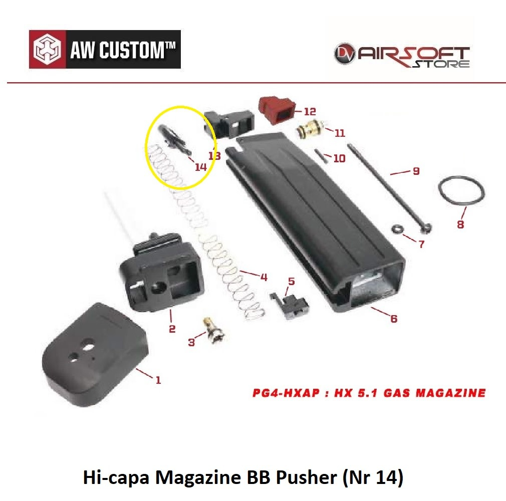 Armorer Works Hi-capa Magazine BB Pusher (Nr 14)