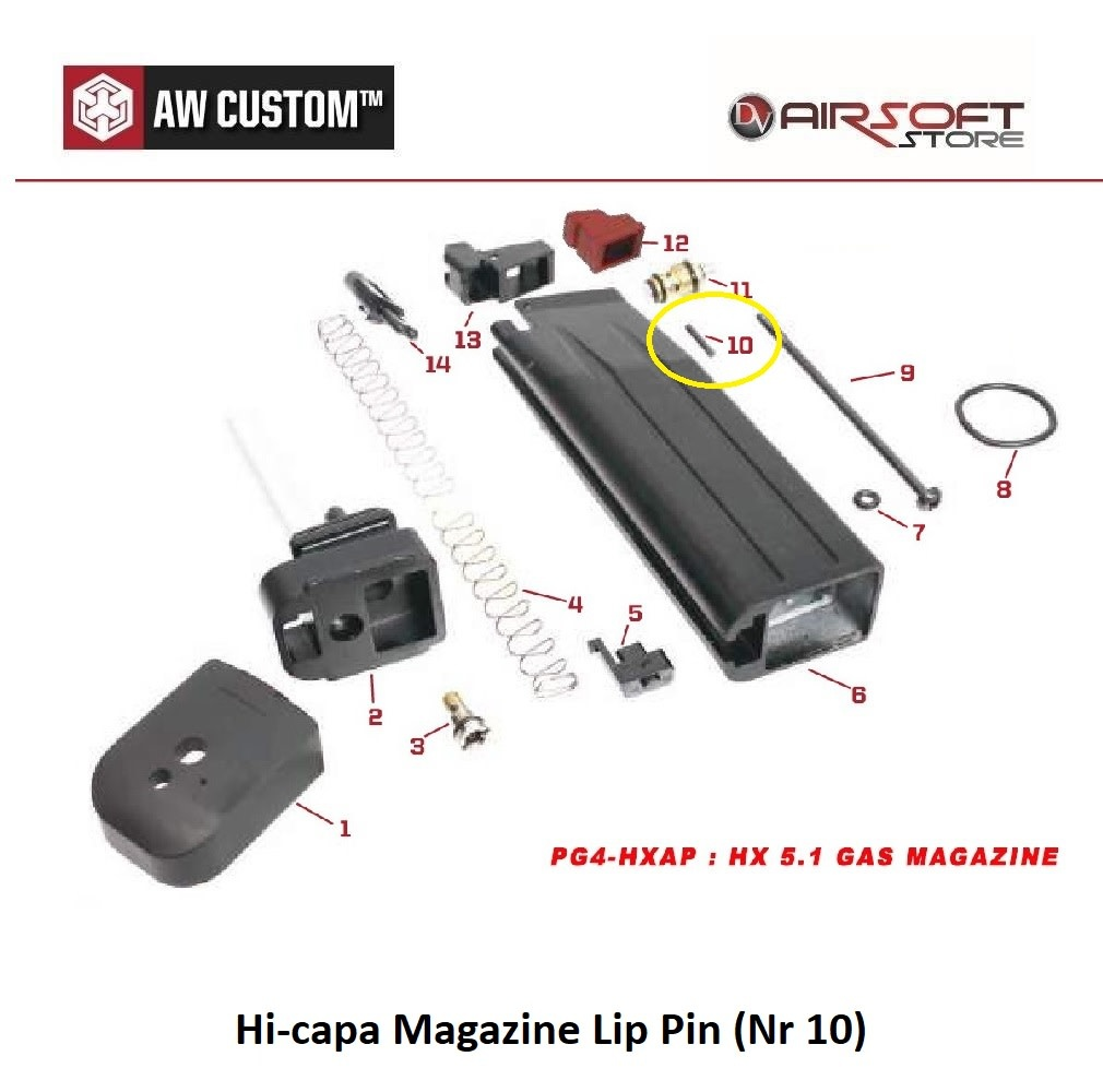 Armorer Works Hi-capa Magazine Lip Pin (Nr 10)