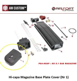Armorer Works Hi-capa Magazine Base Plate Cover (Nr 1)