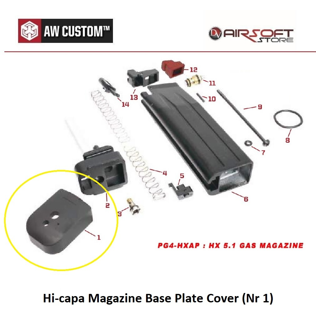 Armorer Works Hi-capa Magazine Base Plate Cover (Nr 1)