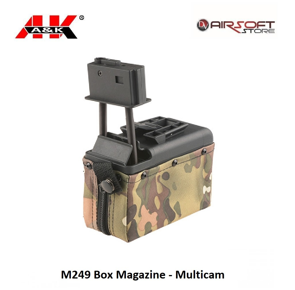 A&K M249 Box Magazine - Multicam