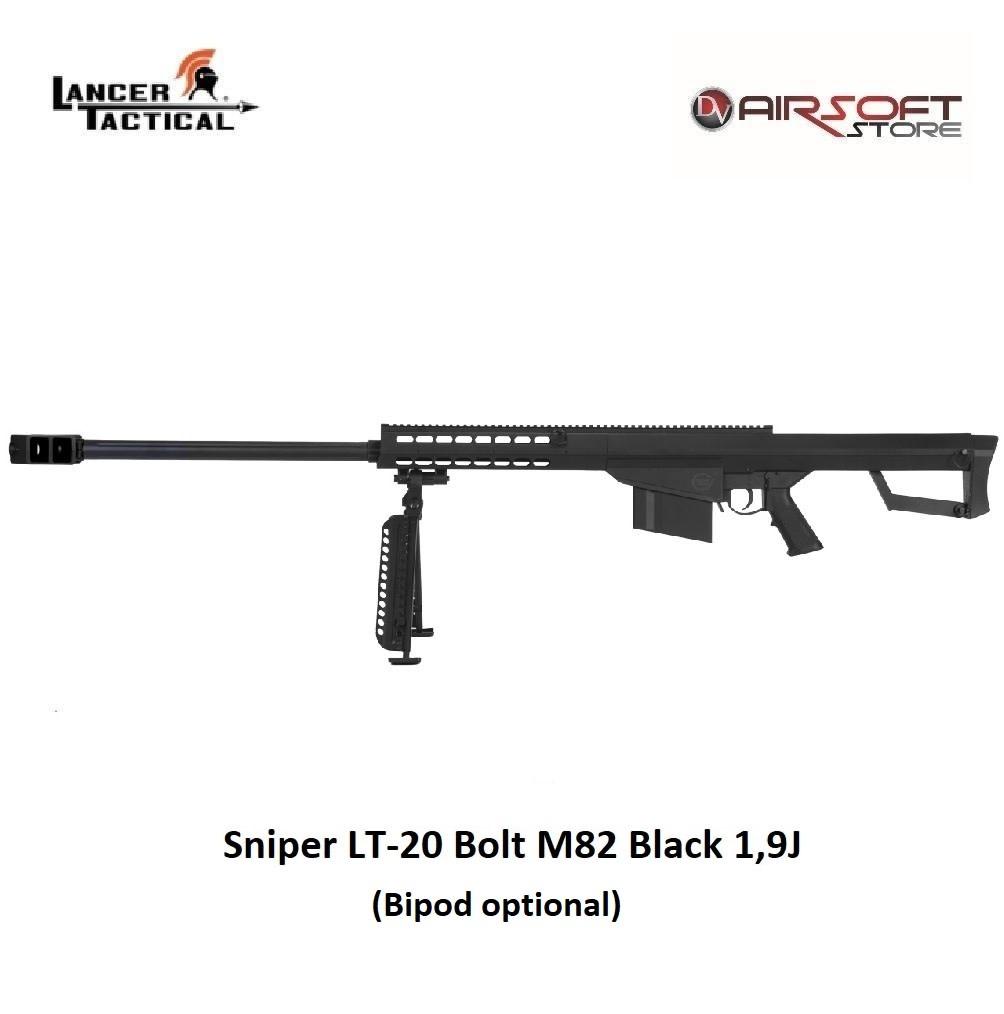 Lancer Tactical Sniper LT-20 Bolt M82 Black 1,9J