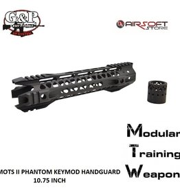 G&P MOTS II Phantom Keymod Handguard 10.75 Inch