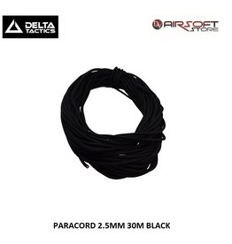 Delta Tactics Paracord 2.5mm - 30m - BK