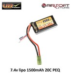 VB Power 7.4v lipo 1500mAh 20C PEQ