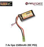 VB Power 7.4v lipo 1500mAh 20C PEQ
