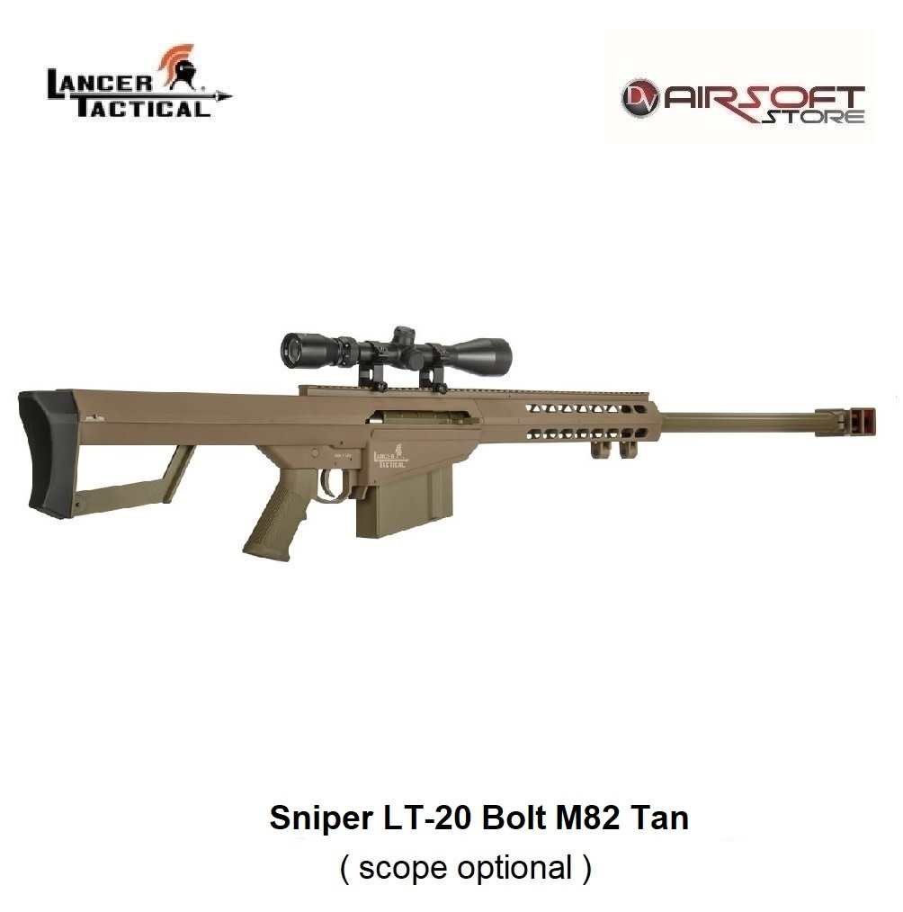 Lancer Tactical Sniper LT-20 Bolt M82 Tan 1.9J