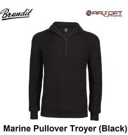 Brandit Marine Pullover Troyer (Black)