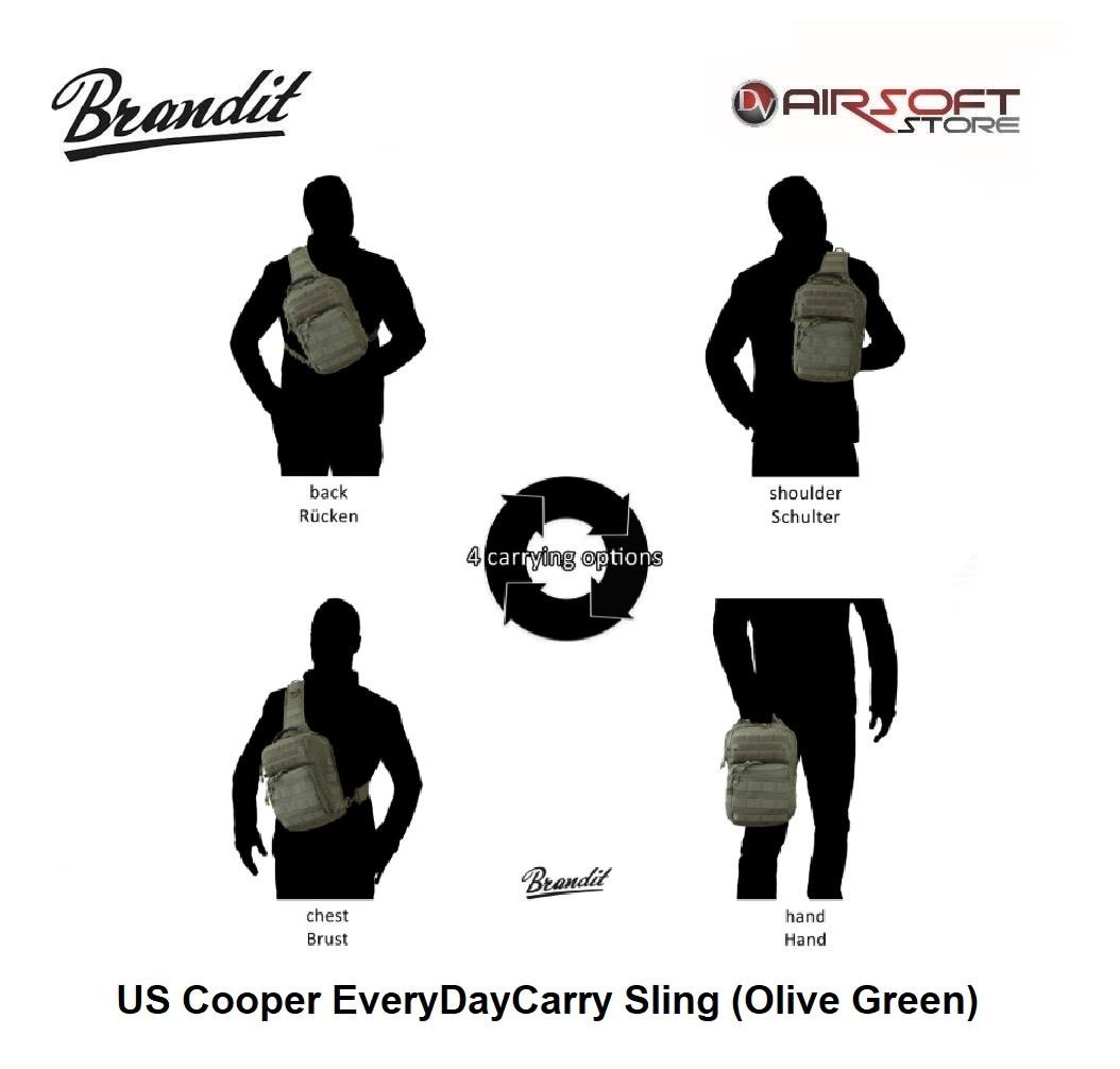 Brandit US Cooper EveryDayCarry Sling (Olive Green)