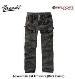 Brandit Adven Slim Fit Trousers (Dark Camo)