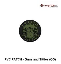 PVC PATCH - Guns and Titties (OD)