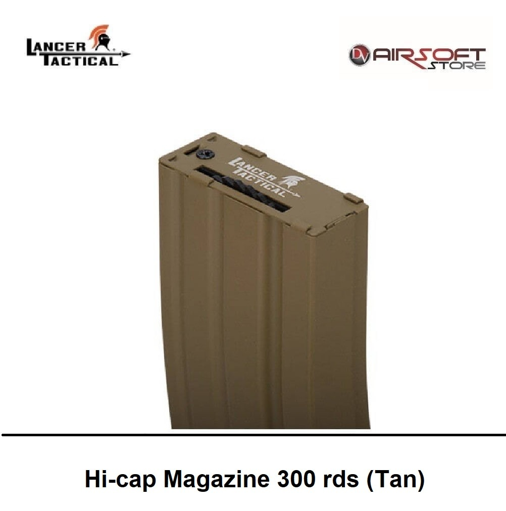 Lancer Tactical Hi-cap Magazine 300 rds (Tan)
