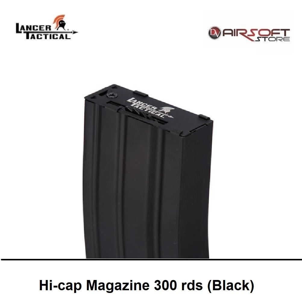 Lancer Tactical Hi-cap Magazine 300 rds (Black)