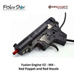 Polarstar Fusion Engine V2 - M4 - Red Poppet and Red Nozzle