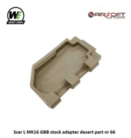 WE (Wei Tech) Scar L MK16 GBB stock adapter desert part nr 66