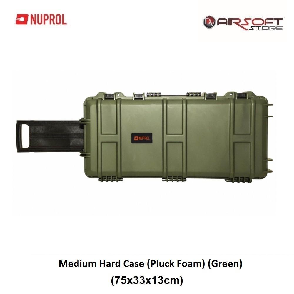 NUPROL Medium Hard Case (Pluck Foam) (Green)