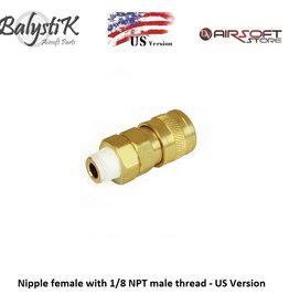 Balystik Nipple female with 1/8 NPT male thread - US Version