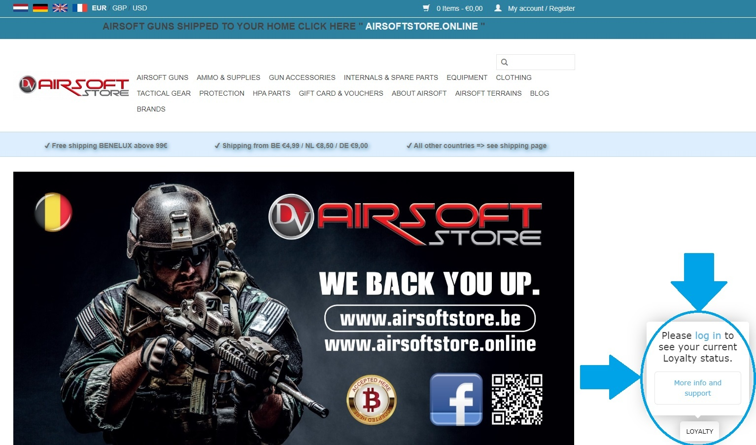 Airsoft Store Loyalty Points Log In