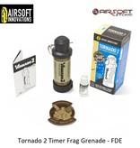 Airsoft Innovations Tornado 2 Timer Frag Grenade - FDE