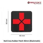 JTG Red Cross Rubber Patch 40mm (Blackmedic)