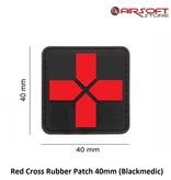 JTG Red Cross Rubber Patch 40mm (Blackmedic)