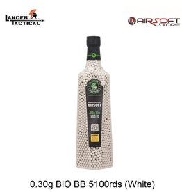 Lancer Tactical 0.30g BIO BB 5100rds (White)