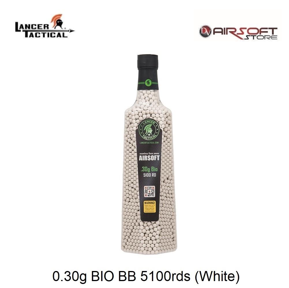 Lancer Tactical 0.30g BIO BB 5100rds (White)