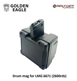 Golden Eagle Drum mag for LMG 6671 (2600rds)