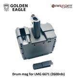 Golden Eagle Drum mag for LMG 6671 (2600rds)