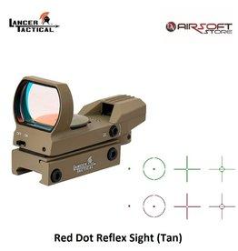 Lancer Tactical Red Dot Reflex Sight (Tan)