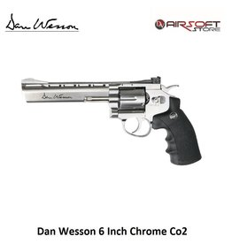 ASG Dan Wesson revolver 6 Inch Chrome Co2