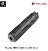 PIRATE ARMS KAC QD 145mm Silencer CCW Black
