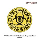 PVC Patch Covid-19 Outbreak Response Team (Yellow)