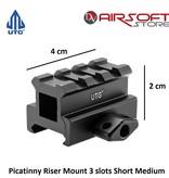 UTG Picatinny Riser Mount 3 slots Short Medium