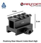 UTG Picatinny Riser Mount 3 slots Short High