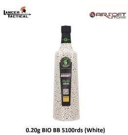 Lancer Tactical 0.20g BIO BB 5100rds (White)