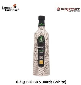 Lancer Tactical 0.25g BIO BB 5100rds (White)