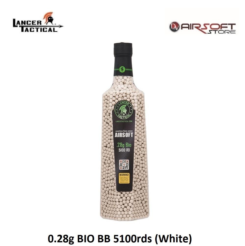 Lancer Tactical 0.28g BIO BB 5100rds (White)