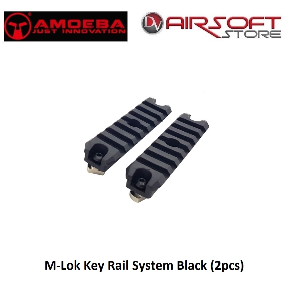 Amoeba M-Lok Key Rail System Black (2pcs)
